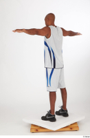 Tiago basketball clothing black sneakers dressed standing t poses white shorts white tank top whole body 0004.jpg