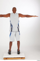 Tiago basketball clothing black sneakers dressed standing t poses white shorts white tank top whole body 0005.jpg