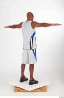 Tiago basketball clothing black sneakers dressed standing t poses white shorts white tank top whole body 0006.jpg