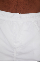 Tiago dressed sports thigh white capri shorts 0014.jpg