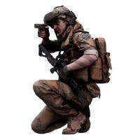 Cleaned 3D Body scan of Army man Crouch