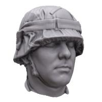 Base Scan of WWII Nazi Soldier Head