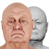 Retopologized 3D Head scan of Riley Evans