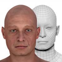 Retopologized 3D Head scan of Vitalij Ferguson