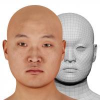 Retopologized 3D Head scan of Dokuro Konyo