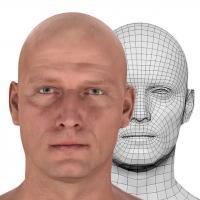 Retopologized 3D Head scan of Jackson Henderson