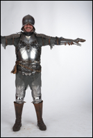 Photos Medieval Soldier in plate armor 1